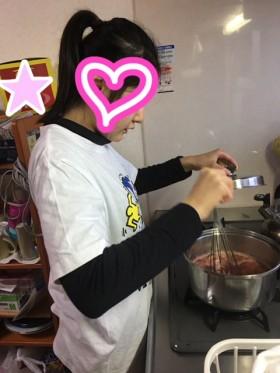 イチゴジャム作り