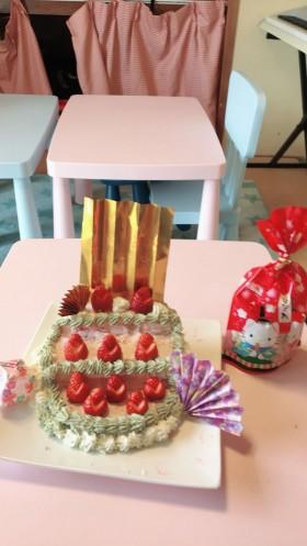 ひな祭りケーキ手作り